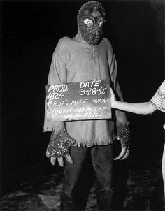 Costume test for the Mole Man in 'The Mole People',  1956.