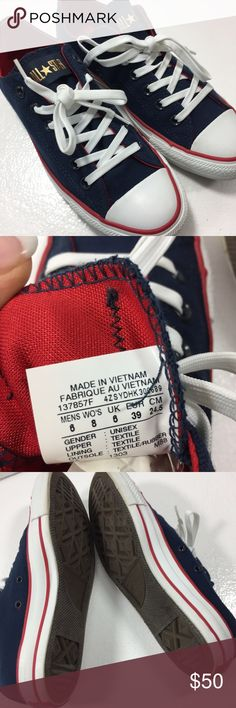 e4400c0ba4b9 Converse All-Stars blue white red tennis shoes 8 Brand new excellent  condition beautiful colors Converse Shoes Sneakers