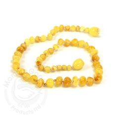 Baltic Baby Amber Necklace Rounded Beads- Milky (S/M)