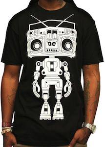 Boombox Boy Bot T-Shirt sample @Kick Agency http://www.facebook.com/kickagency http://www.kickagency.com/gadget/