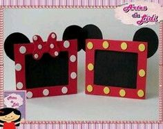 Mickey E Minnie Mouse, Fiesta Mickey Mouse, Mickey Party, Mickey Craft, Mickey Mouse Crafts, Scrapbook Da Disney, Disney Frames, Mickey Mouse Birthday, Disney Diy