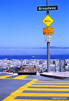 View From Broadway In Pacific Heights, San Francisco By Mitchell Funk   www.mitchellfunk.com