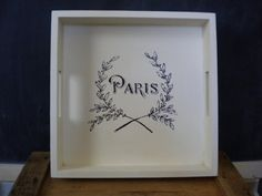 Hey, I found this really awesome Etsy listing at https://www.etsy.com/listing/227432442/large-square-paris-tray-large-white
