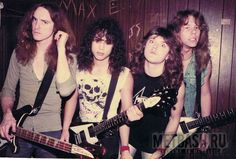 Metallica ® Cliff Burton, Dave Mustaine, Thrash Metal, Metallica Band, Jason Newsted, Ride The Lightning, Kirk Hammett, Heavy Metal Rock, Electric Guitars
