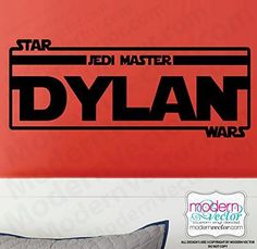 STAR WARS Personalized Name Vinyl Wall Decal -- To view further for this item, visit the image link. (Amazon affiliate link)