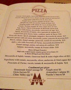 Pizzeria Mozza by Mario Battali - Los Angeles or Newport Beach or San Diego, CA; Restaurant, $$, Fancy Pizza, Italian; top dessert: Butterscotch Budino