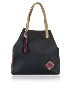 ClaudiaG Collection - Jester Tote - Marsala/Black