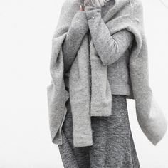 Minimal | All Grey | Winter Layers | HarperandHarley