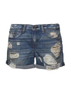 Boyfriend Denim Shorts :: Women | Scoop NYC