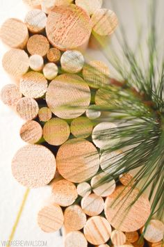 Wooden Dowel Wreath - Vintage Revivals