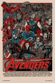 Tyler Stout's New AVENGERS: AGE OF ULTRON Prints Go On Sale Tomorrow — GeekTyrant
