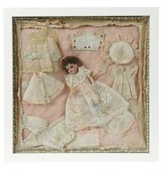 Sanctuary: A Marquis Cataloged Auction of Antique Dolls - March 19, 2016: French Bisque Doll with Trousseau in Original Box with Original Label