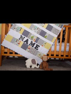 A personal favourite from my Etsy shop https://www.etsy.com/uk/listing/292188259/personalised-baby-quilt