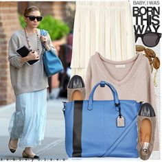 Comfiness and fashionable blue <3 Now I'm thinking maybe I should get a blue bag!