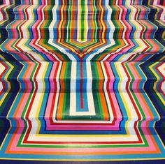 artssake: Jim Lambie, Royal Academy of Arts, summer exhibition staircase Jim Lambie, Art Assignments, Royal Academy Of Arts, Kinetic Art, Stairway To Heaven, Painted Floors, World Of Color, Op Art, Public Art