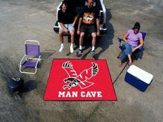 Eastern Washington University Man Cave Tailgater Rug 5x6 - black