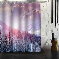 2016 Gravity Falls Waterproof Polyester Shower Curtain Mildewproof Bath Curtains Cortinas Para Banheiro 180x180cm Home & Garden