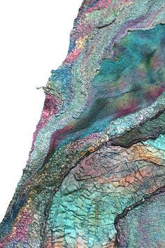 Nuno Felted Scarf Wrap by FeltedPleasure, via Flickr