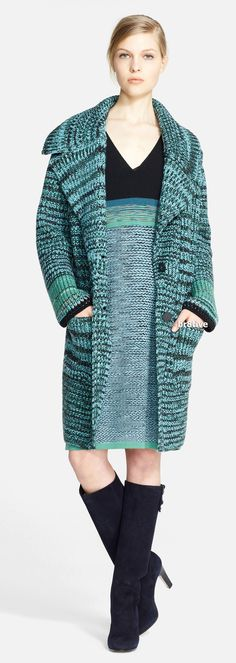 Missoni Long Chunky Knit Cashmere & Wool Coat and Dress