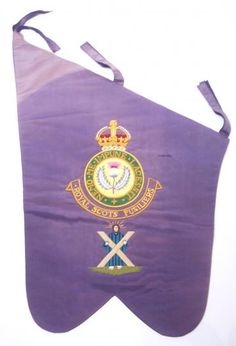 Royal Scots Fusiliers pre 1952 pipe banner
