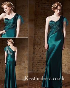 green prom dress at