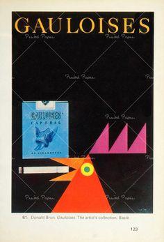 Donald Brun, Gauloises cigarettes advertisement, c. 1955-1960.