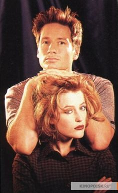 David Duchovny and Gillian Anderson - Agents Fox Mulder and Dana Scully of the X-files