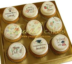 Greeting Cupcakes | Pearly cakes