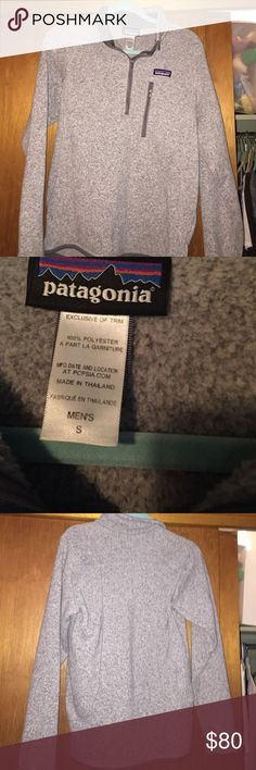 men's Patagonia half zip jacket/ pullover in amazing condition! I've had this for about 2 years and it never looks like it's getting old. MENS size small. super soft and really cute Patagonia Sweaters