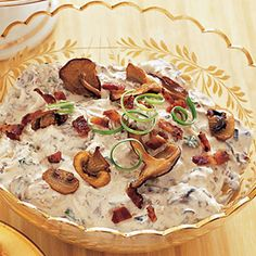 Mushroom and bacon dip, sounds like a crowd-pleaser.