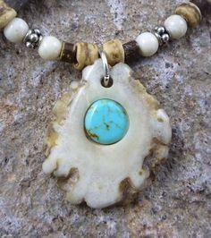 Whitetail Deer Antler Necklace Beads Sterling Silver Chain ... Deer Antler Jewelry, Deer Antler Crafts, Antler Art, Antler Ring, Antler Necklace, Deer Antlers, Bone Crafts, Deer Decor, Bone Jewelry