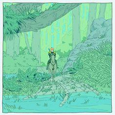 an art print by ma-ko - Inspirierende Kunst Fantasy Landscape, Fantasy Art, Illustrations, Illustration Art, Character Inspiration, Character Art, Ligne Claire, Poses References, Bd Comics