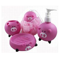 Sailor Pig Shape Bathroom Set Toothbrush Soap Hol ($13.99)