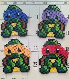 Chibi  Teenage Mutant Ninja Turtles Raphael in Perler Beads Awesome.. $10.00, via Etsy.