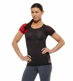 Reebok CrossFit Womens Printed Lightweight Short Sleeve Compression Top