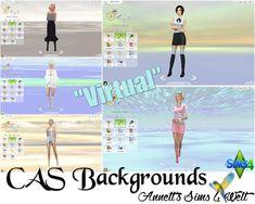 """Annett's Sims 4 Welt: CAS Backgrounds """"Virtual"""""""