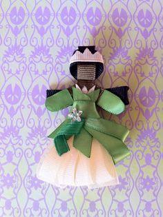 Princess Tiana inspired Ribbon sculpture hair clip via Etsy