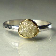 Rough Uncut Diamond Engagement Ring  22k Gold and by JanishJewels, $148.00