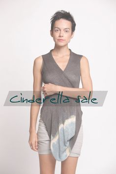 Snuggle Top - Ripple Collection in beige & grey size M