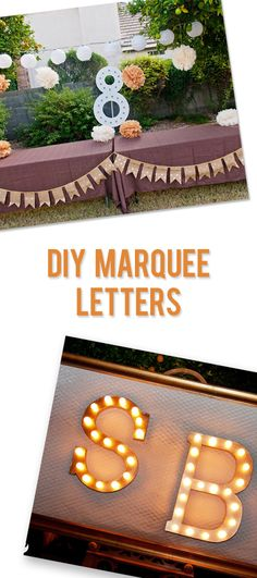 I love big statements in decoration and design, and DIY marquee letters give you a lot of punch for little money. Diy Craft Projects, Diy And Crafts, Projects To Try, Diy Marquee Letters, Marquee Sign, Paper Mache Letters, How To Make Diy, Craft Gifts, Decoration