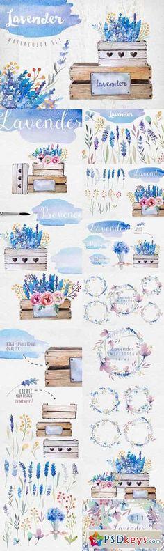 Lavender watercolor DIY 339663