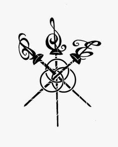 VeggieMuse Tattoos: Custom Tattoo Design - The Three Musketeers