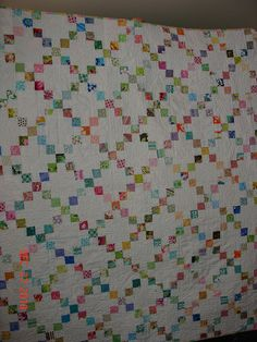 Irish chain quilt.