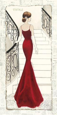 La Belle Rouge Art Print by Emily Adams at Art.com
