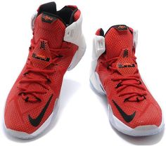 promo code 6b403 c8e9d Lebron 12 Women White Red Black Orange0