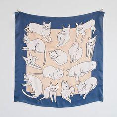 Picasso Cats Scarf at Leah Goren's Etsy shop -- <3!