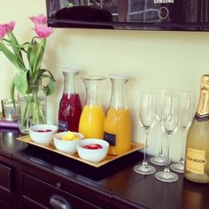 Mother's Day Mimosa Bar Idea