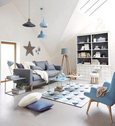 Wunderschöne Wohnzimmer Blau
