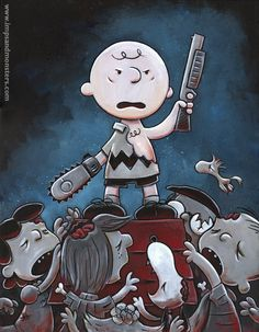 Peanuts / Army of Darkness (Evil Dead III) tribute by Justin Hillgrove [website]