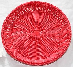 Nantucket Home Bright Woven Polypropylene Paper Plate Holder (Hot Pink) Nantucket Home  & 12 Pack) Reusable Plastic Paper Plate Holders for 9